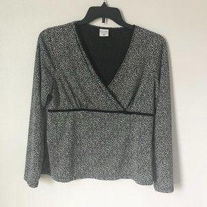 MOTHERHOOD Nursingwear Black and White Print Top